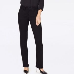 NWT NYDJ Black Marilyn Straight Jeans Sz 4P